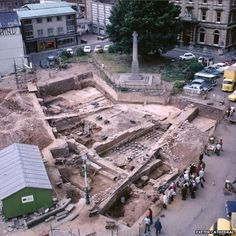 """A set of """"internationally significant"""" Roman Baths which lay hidden for almost years could be opened to the public in a restoration project announced by Exeter Cathedral, Devonshire, U. Ancient Egyptian Art, Ancient Aliens, Ancient Rome, Ancient Greece, Ancient History, Roman Architecture, Historical Architecture, Roman Concrete, Roman Bath House"""