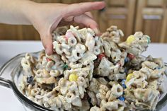 Cereal Drop Snack Mix ~ A Family Favorite! Easy and simple ingredients, whip up this family friendly, kid-approved snack in just a few minutes! Let set, break apart, and watch everyone devour! Puppy Chow Recipes, Snack Mix Recipes, Camping Recipes, Egg Free Recipes, Great Recipes, Cereal Treats, Sweet Sauce, Easy Snacks, Drop