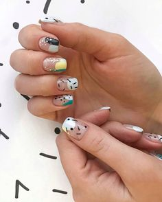 """Figure out even more information on """"trending nail designs nail art"""". Look into our website. Nail Design Stiletto, Nail Design Glitter, Stylish Nails, Trendy Nails, Swag Nails, Fun Nails, Nail Manicure, Nail Polish, Abstract Nail Art"""