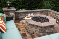 What's better than grabbing a hot drink and snuggling up in front of your very own Cambridge Pavingstones fire pit at the end of a long day? Contractor: Harborwood