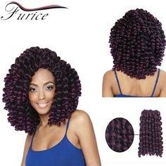 New Arrival Crochet Braids Synthetic Hair Extension 8Inch 20Roots/Pack Wand Curl 2X Bounce Marley Hair Havana Mambo Twist Hair