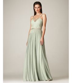 Mignon Spring 2014 - Seamist 1930s Style Grecian Beaded Elegant Prom Dress - Unique Vintage - Prom dresses, retro dresses, retro swimsuits.