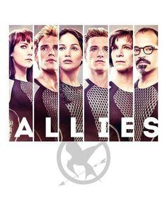 Allies.Johanna,Finnick,Katniss,Peeta,Wiress and Beetee
