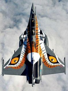 Winged Tiger - Aerospace Job - Ideas of Aerospace Job - Winged Tiger Air Fighter, Fighter Jets, Military Jets, Military Aircraft, Rafale Dassault, Avion Jet, Photo Avion, Aircraft Painting, Jets