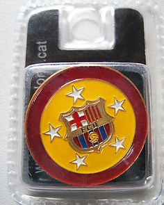 Official BARCELONA F.C. Pin Badge * Round *