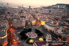 Incredible aerial view on Plaça Catalunya #Barcelona!