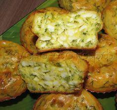 Кексы из плавленных сырков с зеленью | Четыре вкуса