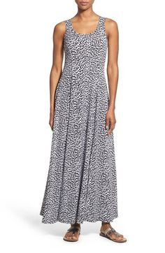 MICHAEL MICHAEL KORS Abstract Jaguar Print Jersey Maxi Dress. #michaelmichaelkors #cloth #