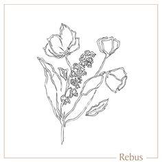 Hand drawn botanical / floral illustration, custom designed for a signet ring engraving. Floral Illustrations, Botanical Illustration, Language Of Flowers, Ring Engraving, Engraved Rings, Signet Ring, Floral Motif, Bling Bling, Hand Drawn