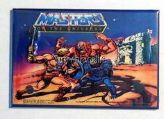 "Vintage MASTERS OF THE UNIVERSE Lunchbox 2"" x 3"" Fridge MAGNET"