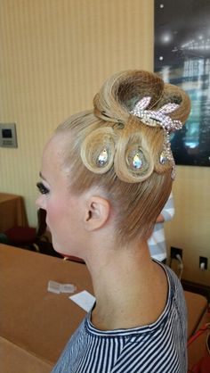 Dancesport Ballroom hair by Ceci