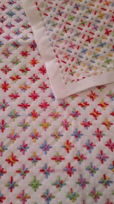 Sashiko quilting - looks like this one used multicolour thread e.g. Anchor Multi Coloured: