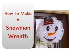 How To Make Snowman Wreath