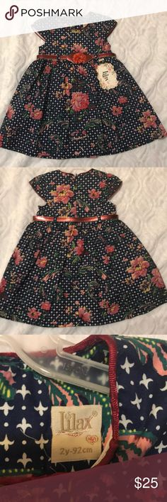 Toddler Girls Dress NWT Well made Lilax Toddler Dress with belt and original tags. Never worn brand new no flaws. Lined Dresses