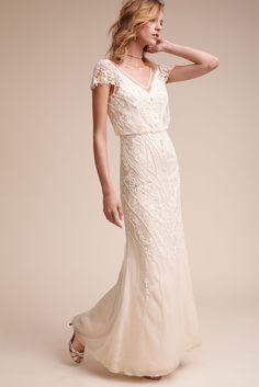 BHLDN Aurora Gown in  Bride Wedding Dresses Sleeves | BHLDN