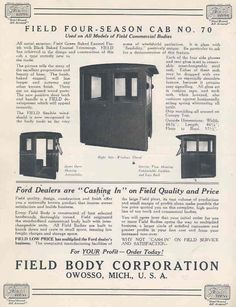 Model T Ford Forum: Field Body Co- Any more out there?