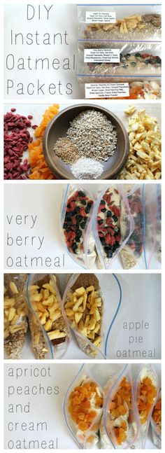 These DIY Instant Oatmeal Packets will be a life saver on busy mornings! Perfect gift idea for new moms, college students, and camping aficionados and just the project for the weekend!