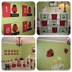 Girl Room, Girls Bedroom, Baby Room, Organization Ideas, Organizing, Bug Toys, Kids Play Area, Lady Bugs, Toy Rooms