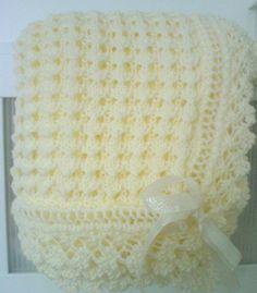 lemon blanket Easy Knit Baby Blanket, Crochet Baby Blanket Free Pattern, Baby Shawl, Crochet For Beginners Blanket, Baby Afghan Crochet, Baby Afghan Patterns, Crochet Patterns, Crochet Baby Jacket, Booties Crochet
