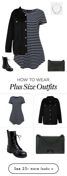 """Plus Size"" by jessiemt2 on Polyvore featuring Boohoo, Avenue and Chanel"