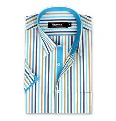 White With Multi Stripe Dress Shirt