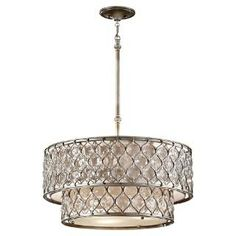 Check out the Murray Feiss F2707-6BUS Lucia 6 Light Chandelier in Burnished Silver priced at $1,530.00 at Homeclick.com.
