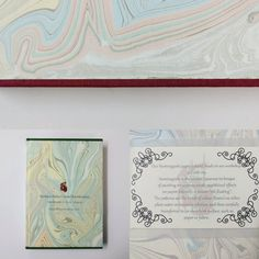 Hand marbled notebook, both notebook and marbled paper made in Cork, Ireland.