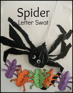 Spider Letter Swat- Alphabet Activity