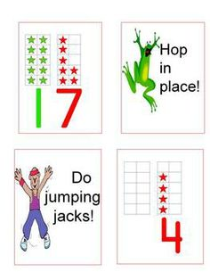 "Ten Frame ""We Want Action"" Game ~ Get kids up and moving and help them really ""see"" numbers in the teens as a group of ten and some additional ones.  Also great to introduce ten frames when focusing on numbers through ten.  ($)"