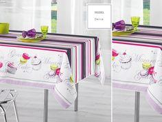 Obrus na stół kuchenny fioletowy z muffinkami