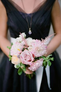 #astilbe, #rose  Photography: Robert And Kathleen Photographers - robertandkathleen.com  Read More: http://www.stylemepretty.com/2014/07/09/garden-inspired-nyc-rooftop-wedding/