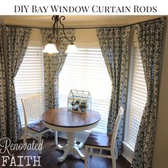 Diy Custom Curtain Rods A Professional Look At Fraction Of The Cost I Used Electrical Conduit And Cabinet S As Finials To Make Budget Friendly