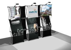 Kiosque d'exposition portatif Farciq