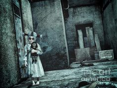 Scary Place Print By Jutta Maria Pusl