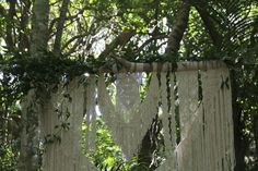 Our gorgeous macrame backdrop available for hire