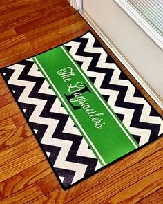 entry mat with personalization