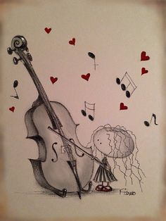 The Cello class! Cello Kunst, Cello Art, Music Pics, Music Stuff, Music Drawings, Art Drawings, Kinds Of Music, Music Love, Art Classroom Management