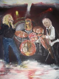 Custom Rock stars Paintings - Jez Harfords Art Gallery Led Zeppelin