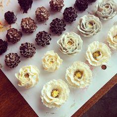 #Buttercream #flowercake #ollicake #piping #pinecone ollicake@naver.com