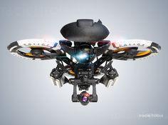 Police heavy drone on Pantone Canvas Gallery