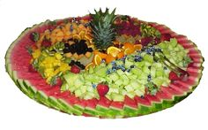 looking for an easy but beatiful way to have a tray of fruit