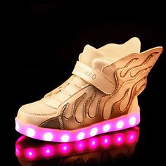 LED Light Up Shoes, Boys' Shoes Outdoor / Casual Silicone / Tulle Fashion Sneakers / Boat Shoes Blue / Green / White / Fuchsia 5024895 2017 – $32.29