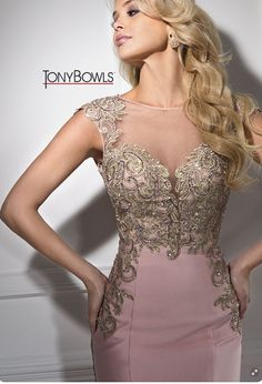 English Rose Prom Dress With Gold Accents. This Dress Is Mermaid Style Bottom With An Open Back Mais Elegant Dresses, Pretty Dresses, Bridesmaid Dresses, Prom Dresses, Formal Dresses, Beautiful Gowns, Occasion Dresses, Dress Patterns, Evening Dresses