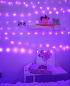 lights fairy pretty purple hi aesthetic led bedroom bedrooms walls 2101 li