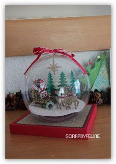 Boule noel 2016_1 Paper Christmas Ornaments, Christmas Minis, Christmas Baubles, Homemade Christmas, Christmas Projects, Christmas Holidays, Christmas Activities, Christmas Themes, Christmas Decorations