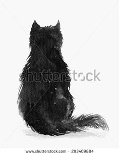 Find Watercolor Fluffy Cat Sits Back stock images in HD and millions of other royalty-free stock photos, illustrations and vectors in the Shutterstock collection. Thousands of new, high-quality pictures added every day. Black Cat Painting, Fluffy Cat, Cat Sitting, Sit Back, Childrens Books, Royalty Free Stock Photos, Watercolor, Cats, Illustration