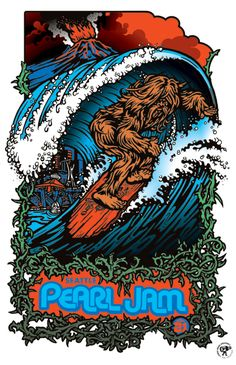 Seattle - Pearl Jam 2009 poster by the Ames Bros.