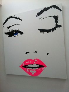 pink lips painting