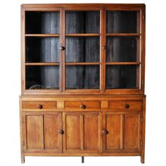 British Colonial Style Breakfront Bookcase | 1stdibs.com