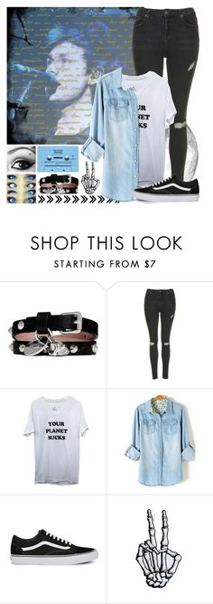 """Backstage Watching Mikey (bf) Perform (tag in description)"" by path-to-oblivion ❤ liked on Polyvore featuring Alexander McQueen, CASSETTE, Topshop, Vans and country"